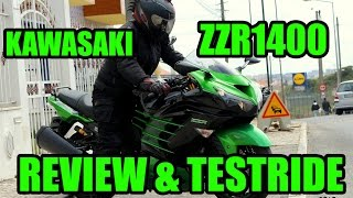 Kawasaki ZZR1400 Review & Testride & Heart Attack!