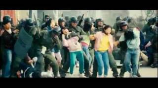 "girls against riot police (fight scene from ""Sunny"")"