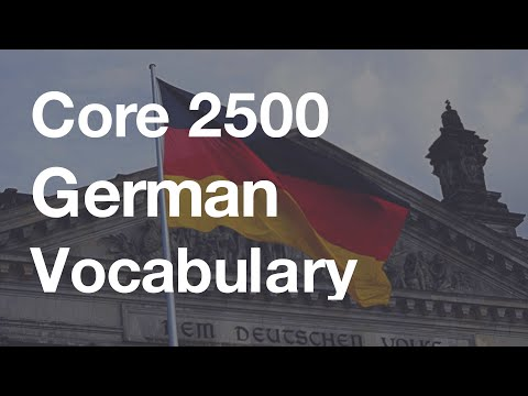Core 2500 German Vocabulary (Duolingo-based 5.0 hour Listeni