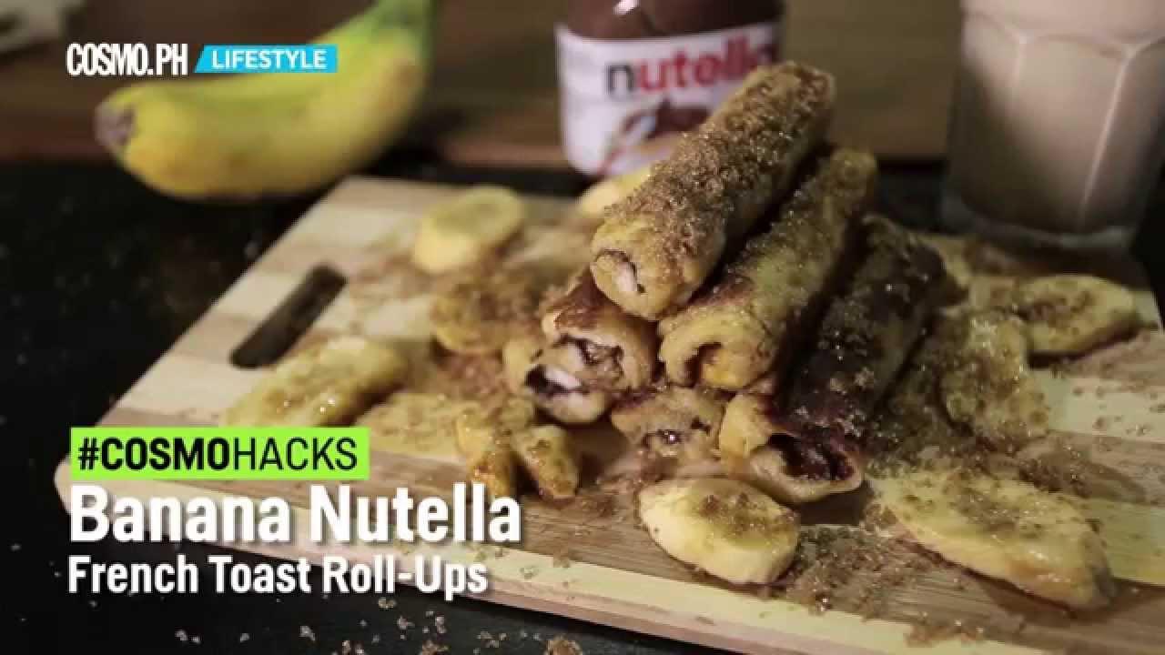 Banana Nutella French Toast Rollups