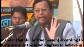 Islam vs Hinduism debate-Guru of Zakir Naik and Pandit Mahendra Pal Arya