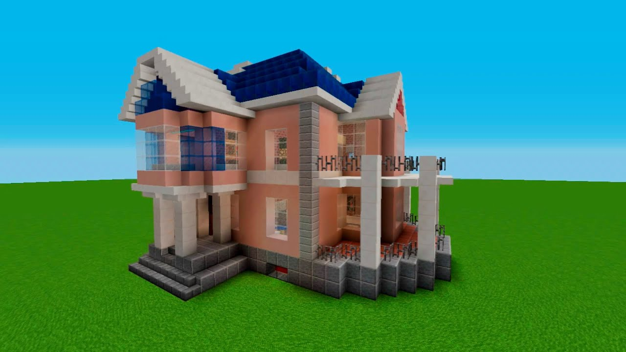Minecraft tutorial how to build a simple house stained for Building a house where to start