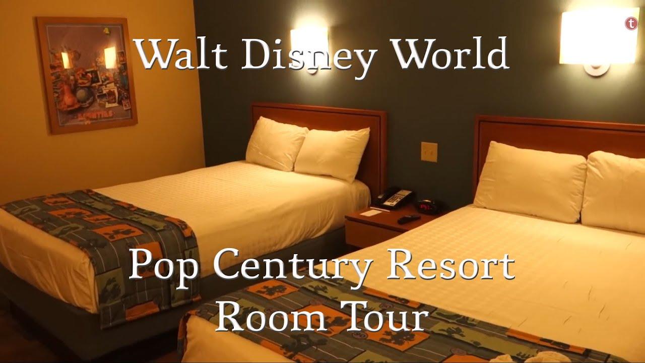 walt disney world - pop century resort hotel room tour - youtube