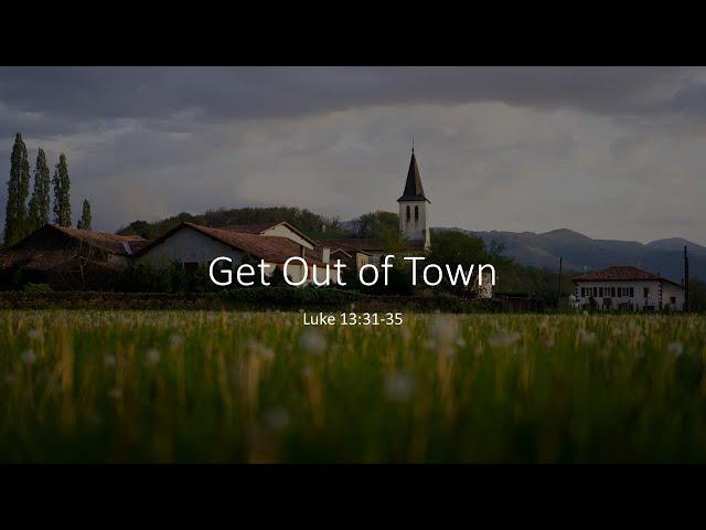 ·Get Out of Town + Ecclesiastes · 201004 SS+· Pastor Jerome Pittman + Ross Kilfoyle