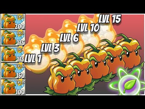 Plants vs Zombies 2 Epic MOD : Pepper Pult 5 Levels of Power UP