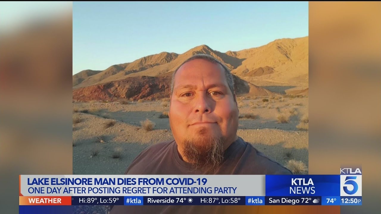 Lake Elsinore man dies from COVID-19 1 day after posting regret over attending party