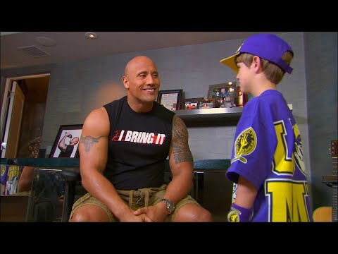 "Raw: The Rock introduces himself to The Miz & a ""young"" Cena"