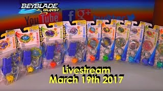 Beyblade Burst Hasbro March 19th 2017 Livestream Live Draw + Live giveaway