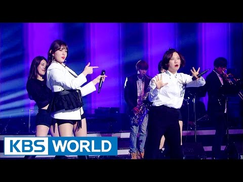 Unnies unit group stands on the stage of