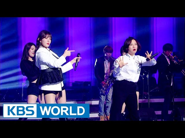 Unnies unit group stands on the stage of 'Immortal Songs' [Sister's Slam Dunk Season2 / 2017.04.21]