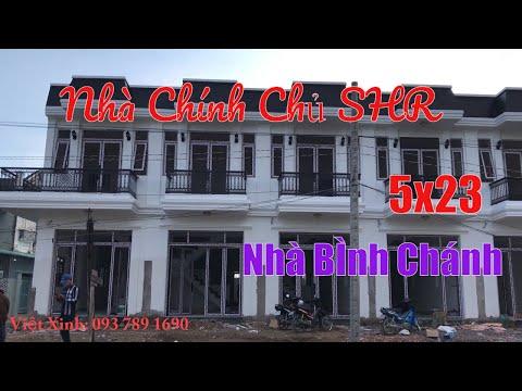 Nhà Đất Sài Gòn 2020 - Mẫu Nhà Phố Bình Chánh 5x23 - Nhà Đẹp Bình Chánh Sổ Hồng Riêng Chính Chủ