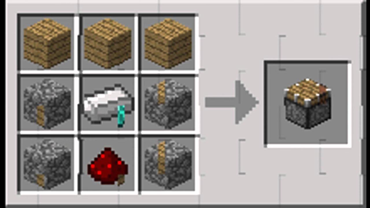 Рецепты пластинок в minecraft