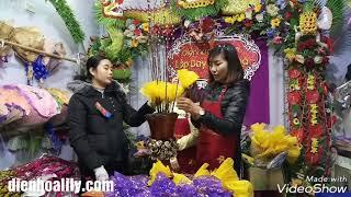 Dạy cắm nụ tầm xuân tết- lớp dạy cắm hoa Lily