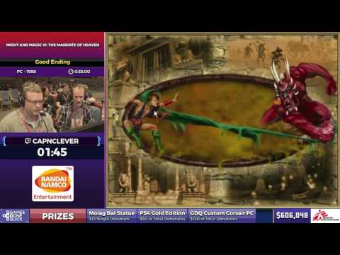 Might and Magic VI: The Mandate of Heaven by CapnClever in 27:50 - SGDQ2017 - Part 80