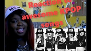 Gambar cover JazzKat reacts to BTS AND 4-Minute songs