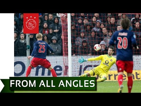 FROM ALL ANGLES ➡️ Kasper Dolberg 1-2 - Feyenoord - Ajax