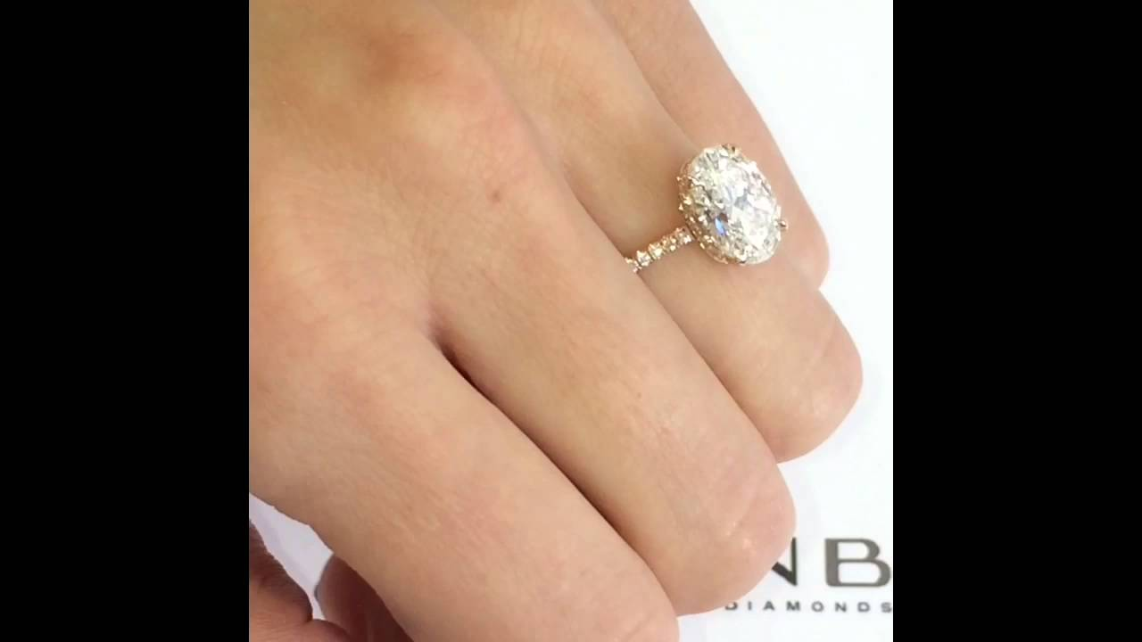 Carat oval diamond ring youtube