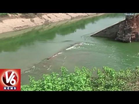 SRSP Canal Breaks Near Mallial | Officials Speed Up Repair Works | Karimnagar | V6 News