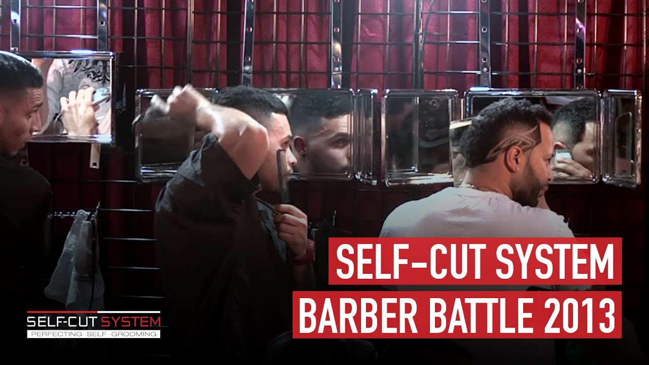 self cut system haircutting mirror self cut system barbers battle 2013 www selfcutsystem 3091