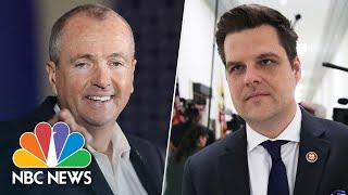 'Rep. Matt Putz': New Jersey Governor Slams Gaetz For Maskless Indoor Fundraiser | NBC News NOW