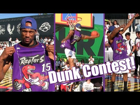 Vince Carter 360 Windmill Tribute! Sick Adidas Dunk Contest Highlights!