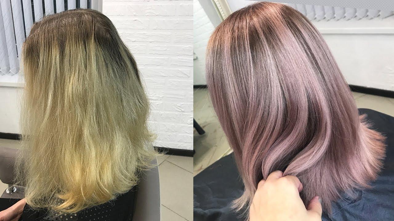 Растяжка цвета на волосах: фото окрашивания от темного к 56