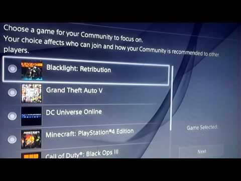 How to make a community on ps4