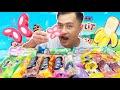 MAKAN 15 BATANG AISKRIM sampai beku otak mukbang malaysia Le Cremeria Peanut Butter Ice Cream