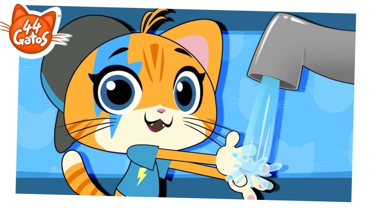 44 Gatos   Vamos aprender a lavar as mãos com o Lampo!