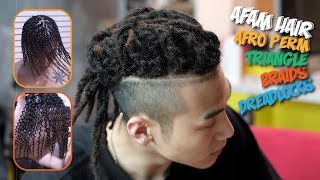 Download lagu Straight hair dreads [dreadlocks] with Afro perm [Triangle box braids Dreadlocks] 레게머리 특수머리 드레드 히피부다