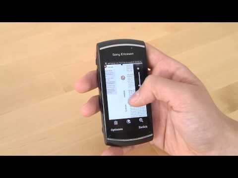 Sony Ericsson Vivaz pro Test Internet