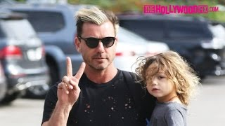 Gavin Rossdale Takes His Sons Zuma & Apollo To Play Basketball At The Park 11.12.16