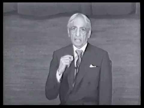 J. Krishnamurti - New York 1971 - Public Talk 2 - What you think, you are