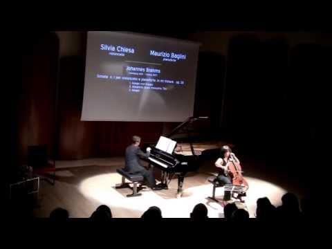 Maurizio Baglini e Silvia Chiesa:  Brahms Sonata nr. 1  op. 38