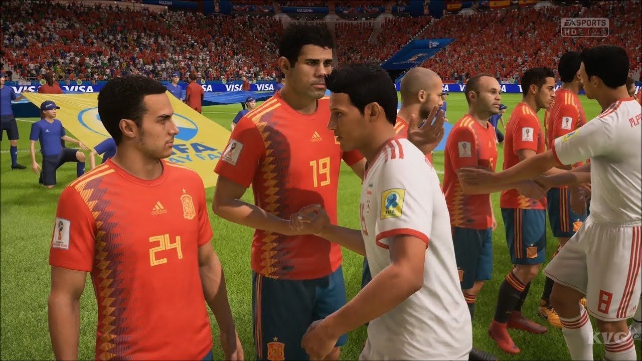 2018 FIFA World Cup Russia - IR Iran vs Spain - Gameplay (HD)  1080p60FPS  5ec38869f