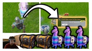 COMMENT POUR GET DOUBLE CHESTS/TRIPLE LLAMAS IN FORTNITE BATTLE ROYALE (2018)