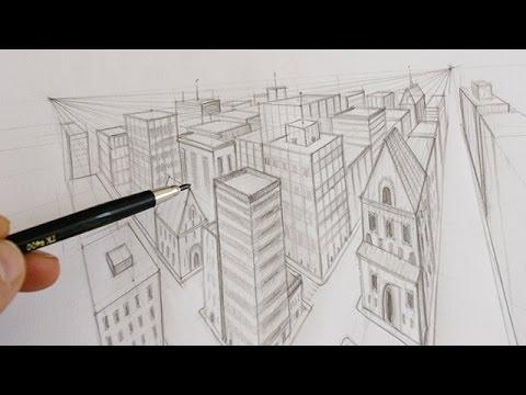 comment dessiner une ville en perspective