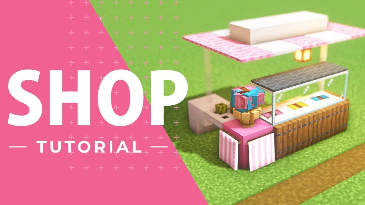 【マインクラフト】可愛いアイスクリーム屋台の作り方(建築講座)