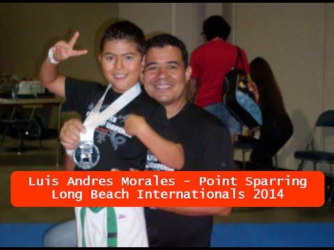 Luis Andres Morales - Long Beach Internationals 2014 - Intermediate Ranks Point Sparring