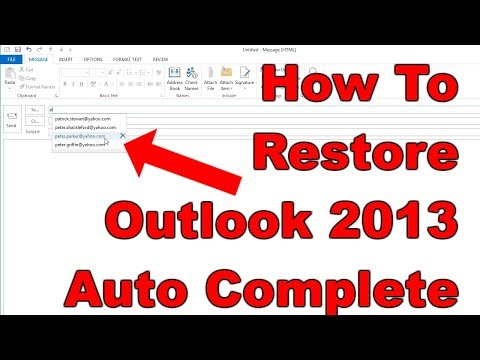 FIXED] How To Recover Outlook 2013 Auto Complete Contacts