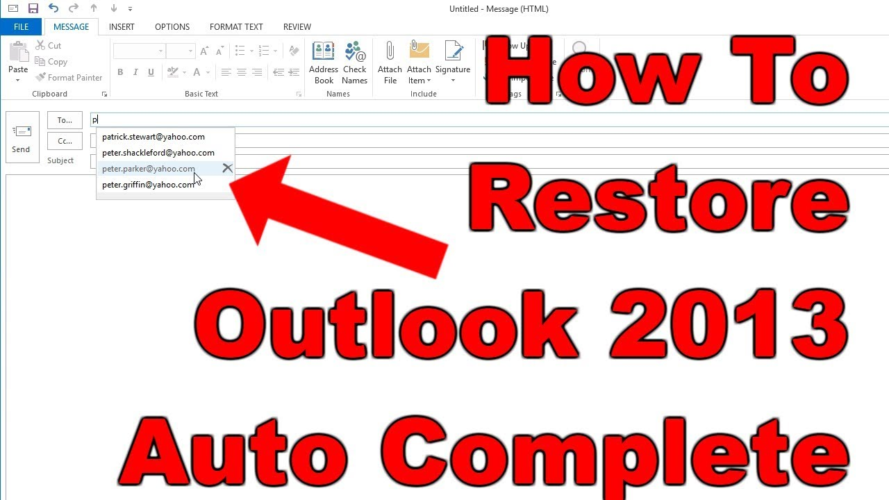 how to delete contacts from outlook 2013