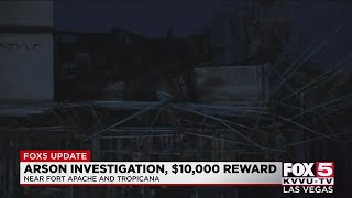 Authorities investigate arson to Las Vegas construction project