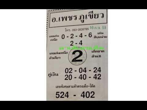 หวยเด็ดงวดนี้ ปฏิทินโชคลาภหมอไพศาล 16/02/58