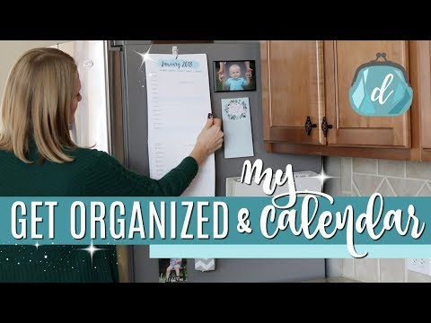 KITCHEN ORGANIZATION 💙 Do It On A Dime 2018 Calendar & Command Center