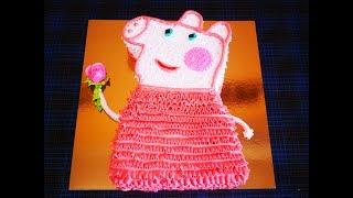 МК по торту Свинка ПЕППА Украшение торта кремом Cake decorating