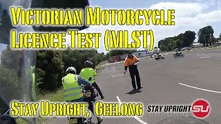Victorian Motorcycle Licence Skills Test - MLST @ Stay Upright Geelong