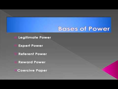 bases of power in an organization Women and organizational power what is power it is everywhere you can see it, hear it  five bases of power french and raven (1959).