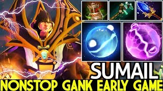 SUMAIL [Invoker] Mid Player God Nonstop Gank Early Game 7.22 Dota 2