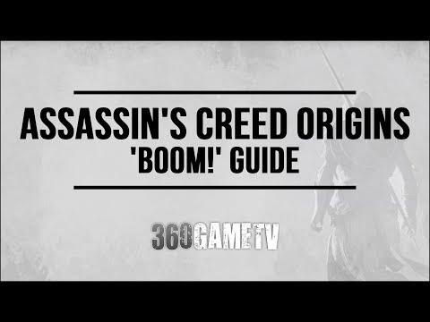 Assassins Creed Origins BOOM! Achievement / Trophy Guide (Kill enemies - fire arrow - oil jar)