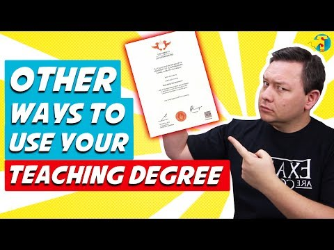 QUIT TEACHING!!! What Else Can I Do With My Teaching Degree?